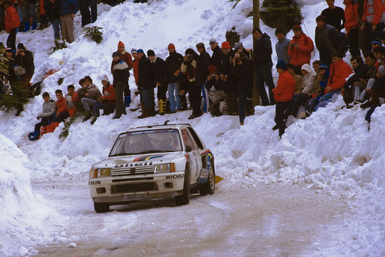020 - WRC 1985. RMC. Saby/Fauchille. Peugeot 205 Turbo 16. 5me