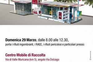 Valle Muricana – Nel week end centro mobile di raccolta dell'AMA