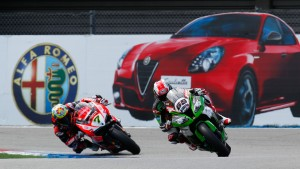 Mondiale Superbike – Magny cours, Davies e l'Aruba.it Racing – Ducati Superbike Team sul podio