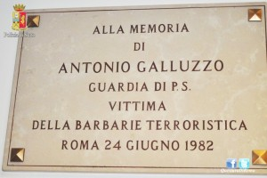 Roma – Il Questore D'Angelo commemora la morte dell'agente Antonio Galluzzo