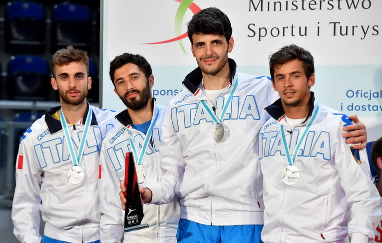 Torun, 23 june 2016 European  Fencing Championships IV day Foil men in photo: Andrea Baldini, Andrea Cassarà, Giorgio Avola e Daniele garozzo    Photo Augusto Bizzi