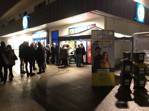 Frosinone, differenziata: stand su zone commerciali