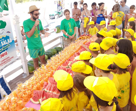 Partono giovedì da Paestum le tappe Campane di Fruit&Salad on the Beach