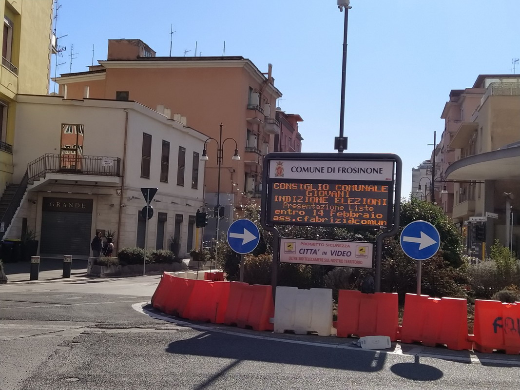 Frosinone: restyling tabelloni Informacittà